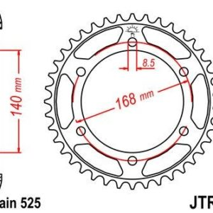 BMW - Corona JT 6 de acero con 47 dientes -