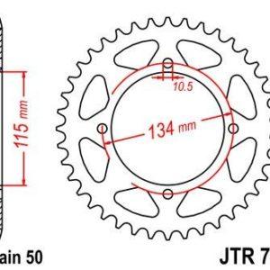 CAGIVA - Corona JT 718 de acero con 44 dientes -