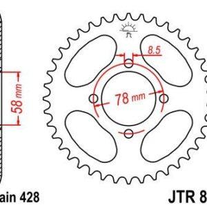 HYOUSUNG - Corona JT 810 de acero con 41 dientes -