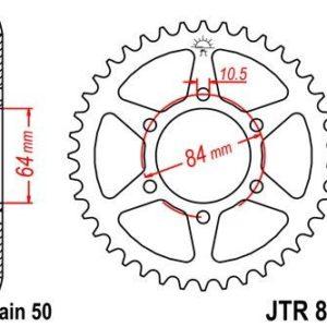 SUZUKI - Corona JT 814 de acero con 50 dientes -