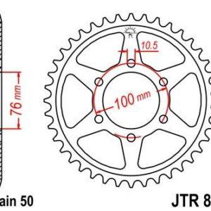 SUZUKI - Corona JT 816 de acero con 50 dientes -