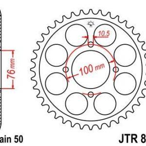 SUZUKI - Corona JT 824 de acero con 46 dientes -