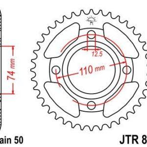 YAMAHA - Corona JT 854 de acero con 43 dientes -