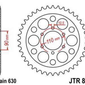 YAMAHA - Corona JT 858 de acero con 35 dientes -