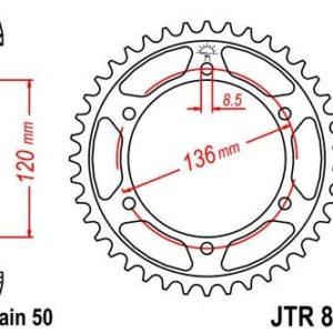 YAMAHA - Corona JT 862 de acero con 45 dientes -