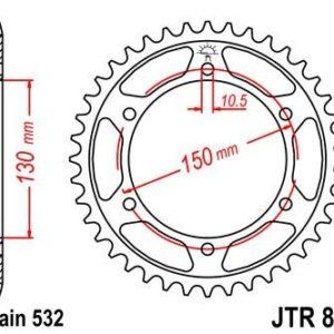 YAMAHA - Corona JT 866 de acero con 39 dientes -