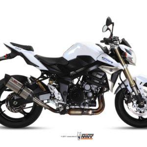 SUZUKI - Escape MIVV Suzuki GSR 750 (2011-2012) Suono acero inox, copa cónica en carbono -