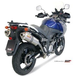 SUZUKI - Escape MIVV Suzuki DL V-STROM 1000 (2005+) Oval titanio -