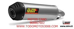 SUZUKI - Escape MIVV Suzuki GSX-R 1000 (2007-2008) Oval titanio, copa cónica en carbono -