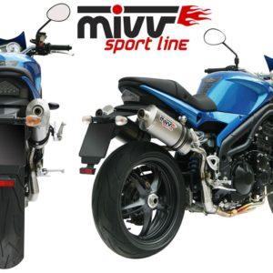 ESCAPES MIVV TRIUMPH - Escape MIVV Triumph SPEED TRIPLE (2005-2006) Oval titanio -