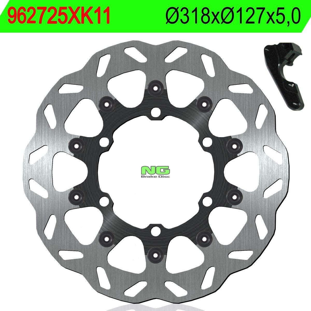 KTM - Disco de freno NG kit ondulado725XK11 Ø320 x Ø127 x 5 -