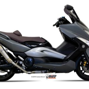 YAMAHA T-MAX 500 (08-10) - SISTEMA COMPLETO MIVV Ghibli acero inox T-MAX 500 (2008-2011) -