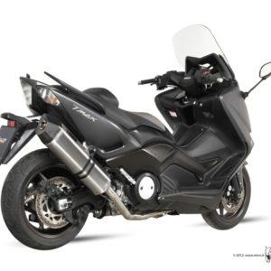 ESCAPES MIVV YAMAHA - MIVV Speed Edge acero inox, copa carbono T-MAX 530 (2012) -