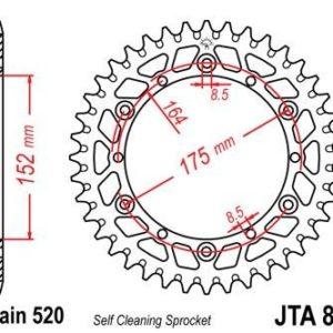 KREIDLER - Corona JT 853 de aluminio con 40 dientes -