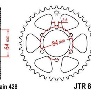 KREIDLER - Corona JT 809 de acero con 51 dientes -