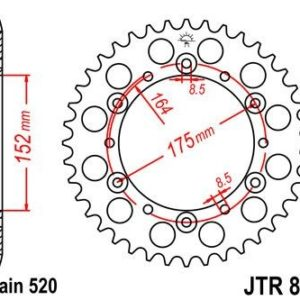 KREIDLER - Corona JT 853 de acero con 40 dientes -