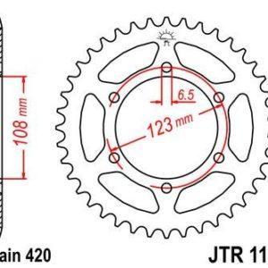 MOTOR HISPANIA - Corona JT 1133 de acero con 52 dientes -