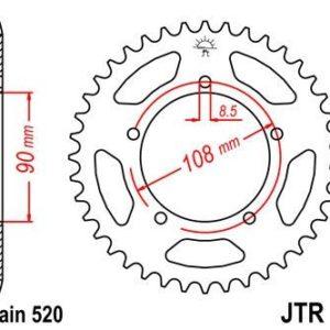 MZ / MUZ - Corona JT 18 de acero con 43 dientes -
