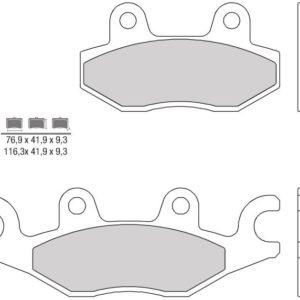TGB - Pastillas de freno sinterizadas Brembo 07095XS -