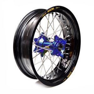 SHERCO - Rueda completa Haan Wheels aro negro 17-4,25 buje azul 1 106007/3/5 -