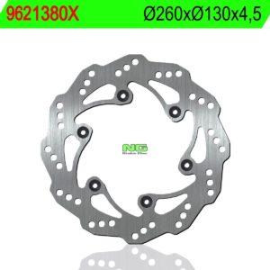 BAJAJ - Disco de freno NG ondulado 9621380X Ø260 x Ø130 x 4.5 -