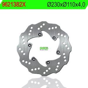 BAJAJ - Disco de freno NG ondulado 9621382X Ø230 x Ø110 x 4 -