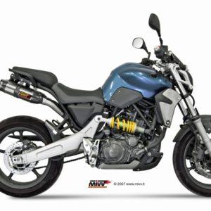 ESCAPES MIVV YAMAHA - MIVV Suono STEEL BLACK,copa carbono MT-03 660 (2006 en adelante) -