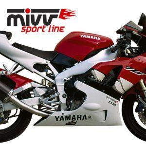 ESCAPES MIVV YAMAHA - MIVV Oval carbono YZF 1000 R1 (1998-2001) -