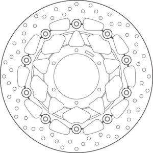 HONDA - Disco de freno flotante Brembo 78B40876 -