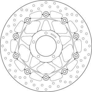 DUCATI - Disco de freno flotante Brembo 78B40880 -