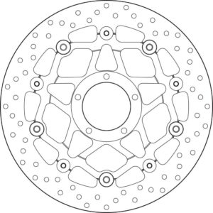 DUCATI - Disco de freno flotante Brembo 78B40886 -