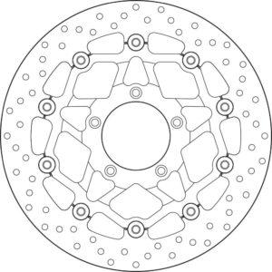 MV AGUSTA - Disco de freno flotante Brembo 78B40889 -