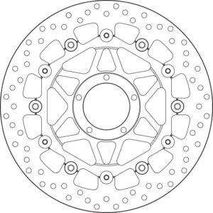 DUCATI - Disco de freno flotante Brembo 78B40890 -