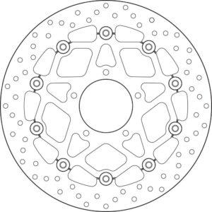 MV AGUSTA - Disco de freno flotante Brembo 78B40893 -