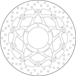 HONDA - Disco de freno flotante Brembo 78B40895 -