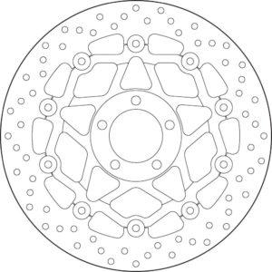 KAWASAKI - Disco de freno flotante Brembo 78B40899 -