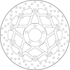 KAWASAKI - Disco de freno flotante Brembo 78B408A1 -