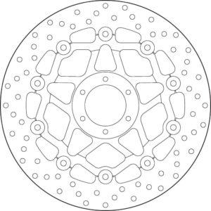 HONDA - Disco de freno flotante Brembo 78B408A3 -