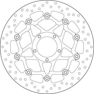 DUCATI - Disco de freno flotante Brembo 78B408A4 -