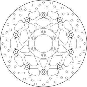 KTM - Disco de freno flotante Brembo 78B408A7 -