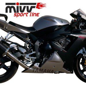 ESCAPES MIVV YAMAHA - MIVV Oval carbono YZF 1000 R1 (2002-2003) -