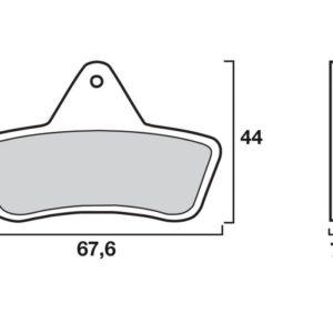 ARCTIC CAT - Pastillas de freno sinterizadas de competición Brembo 07GR54SX -