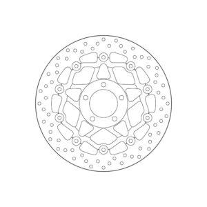 SUZUKI - Disco de freno flotante Brembo 78B408A0 -