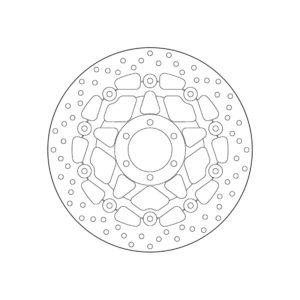 MOTO MORINI - Disco de freno flotante Brembo 78B408A2 -