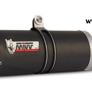 ESCAPES MIVV DUCATI - Mivv Oval carbono, copa carbono (bajo colin) Ducati 848 2007+ -