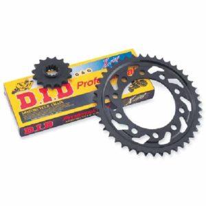 KIT DE CADENA - Kit de transmisión X-ring negra Aprilia Stark / Moto 6,5 650 95/00 -